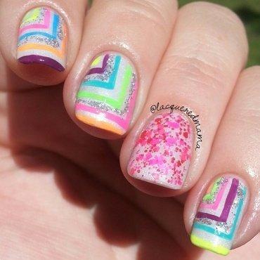 Neon, Glitter, Holo... Oh My! nail art by Jennifer Collins