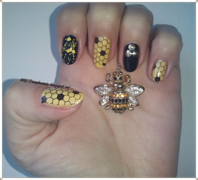 Hooney nail art by Oana  Alexandru