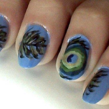 Peacock nail art by Brankica