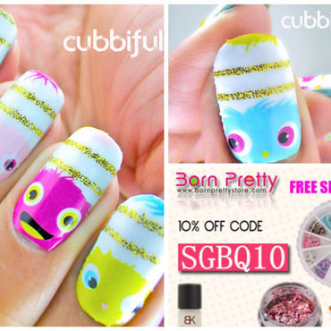 It's So Fluffy nail art by Cubbiful