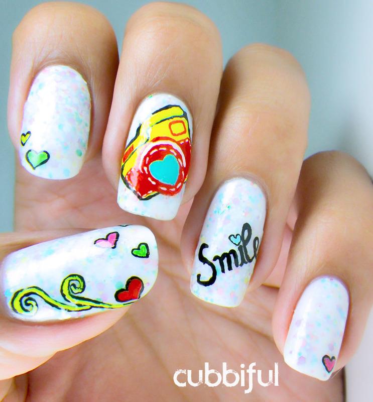 Thank You For Making Me Smile Nail Art By Cubbiful Nailpolis