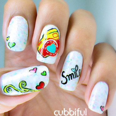 Thank You For Making Me Smile! nail art by Cubbiful