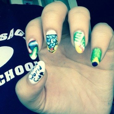 2014 World Cup nails nail art by Leslerex