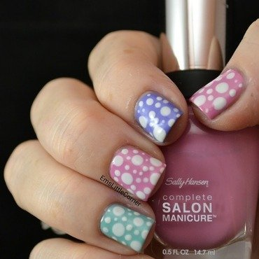 Pastel Dotticure for Easter nail art by Emma B