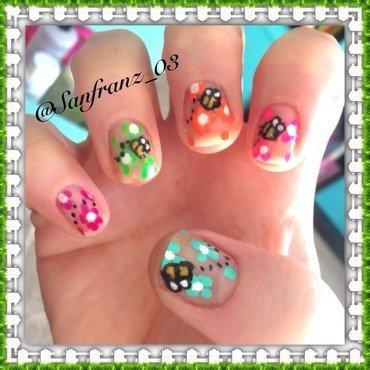 Bee nails! nail art by Sandy