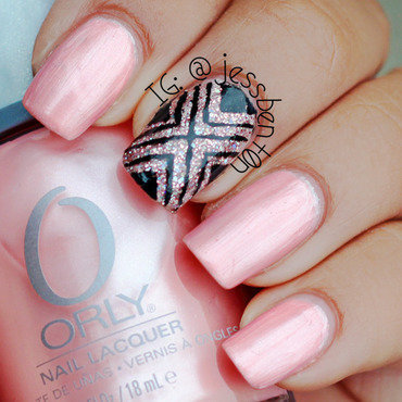 Pretty Edgy in Pink nail art by Jessica Benton