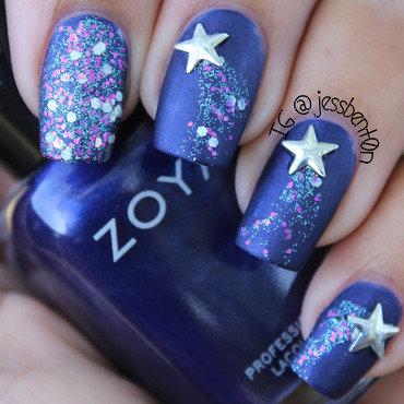 Shooting Stars nail art by Jessica Benton