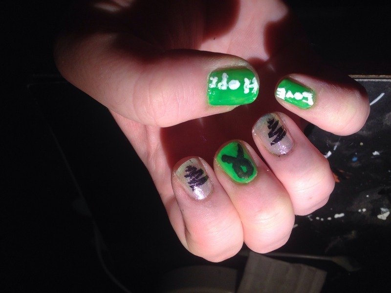 Depression awareness nails! nail art by Sandy