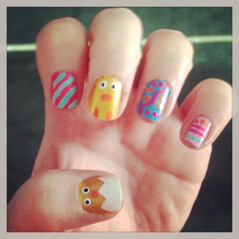 Chick nails! nail art by Sandy