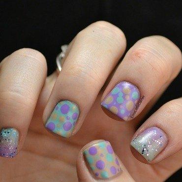Spring Skittlette nail art by Emma B