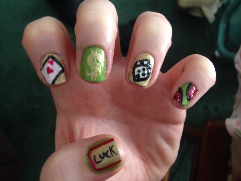 Casino nails! nail art by Sandy