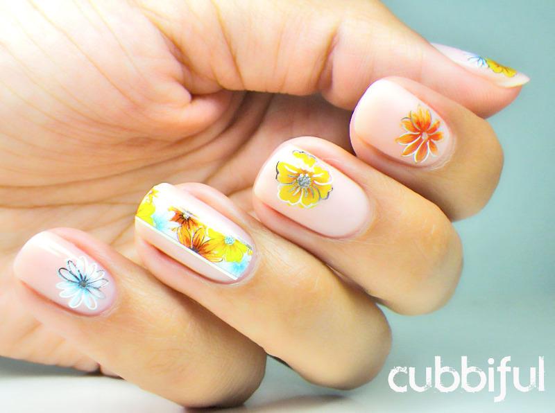 Flowers! - Part 2 nail art by Cubbiful