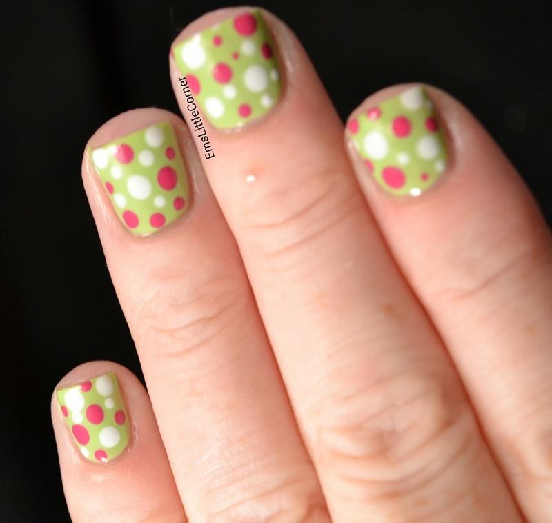 cinderella hand dotticure nail art by Emma B