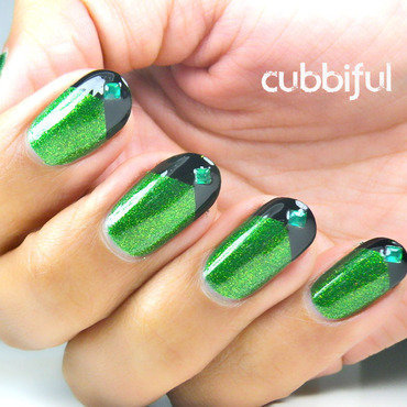 Maleficent! nail art by Cubbiful