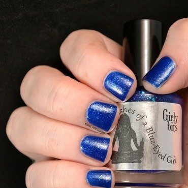 Girly Bits Blue Eyed Beer Drinking Music Loving Lawyer Swatch by Emma B