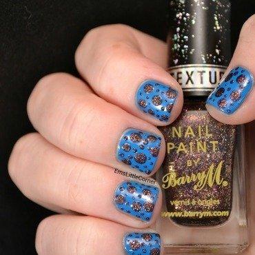 textured dots nail art by Emma B