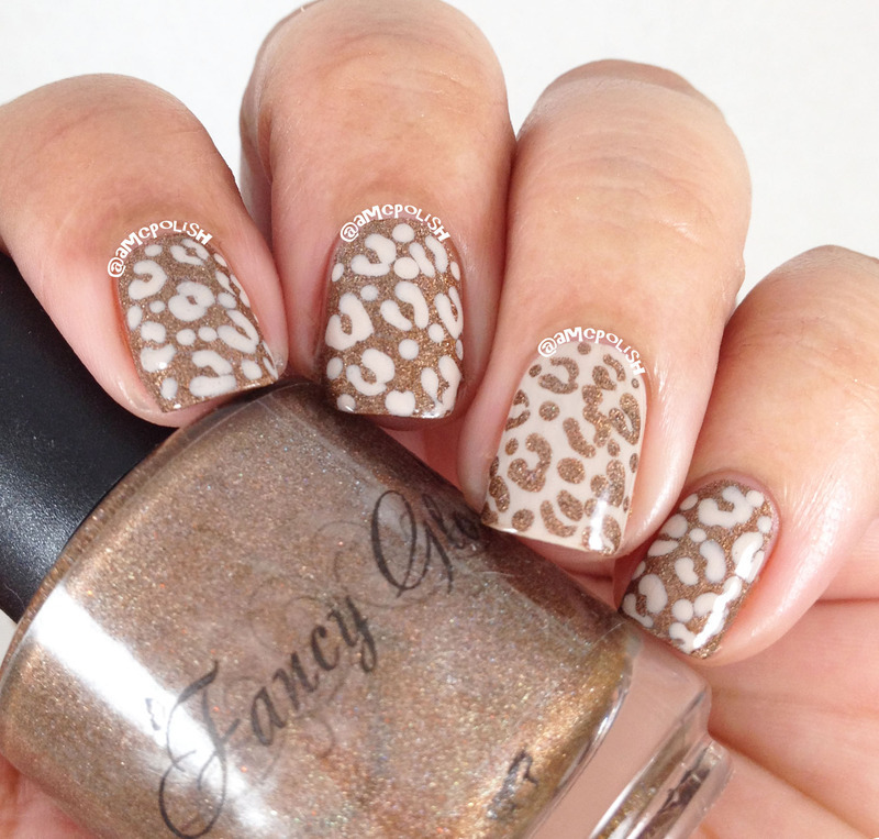 Office Appropriate Animal Print nail art by Amber Connor
