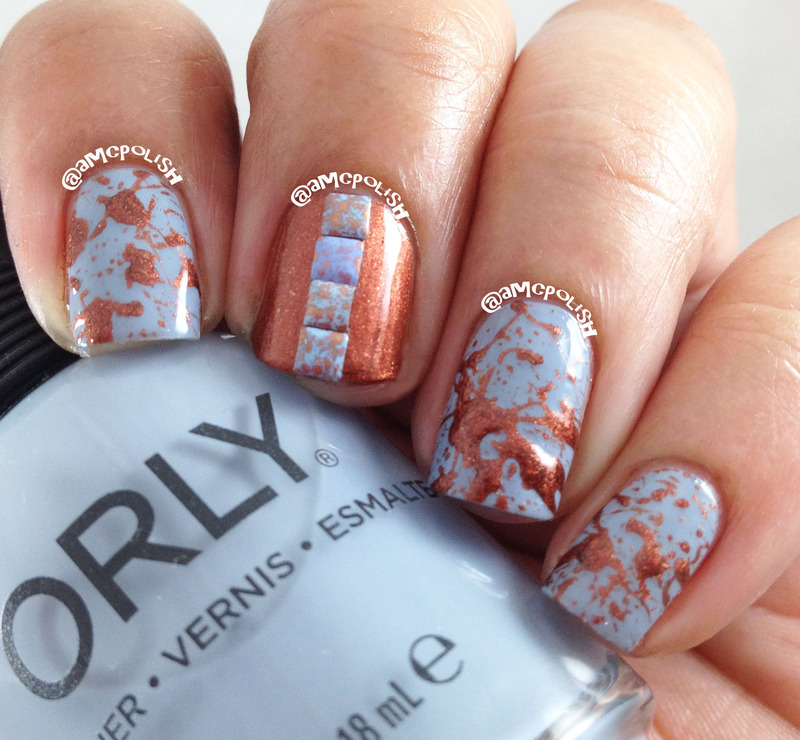Splatter & Studs nail art by Amber Connor