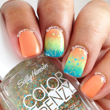 Summer Fun Gradient nail art by Amber Connor