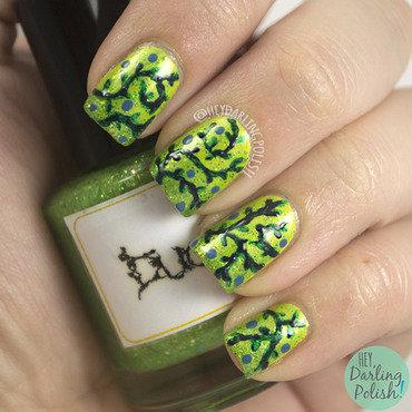 The never ending pile challenge green vine nail art 4 thumb370f