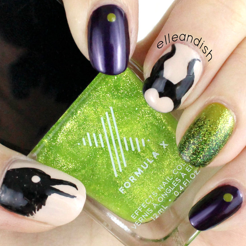 Maleficent Nails nail art by elleandish
