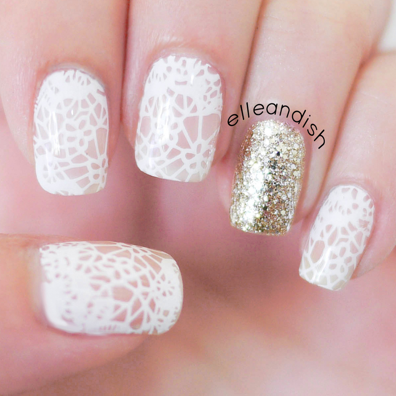 White lace nails nail art by elleandish