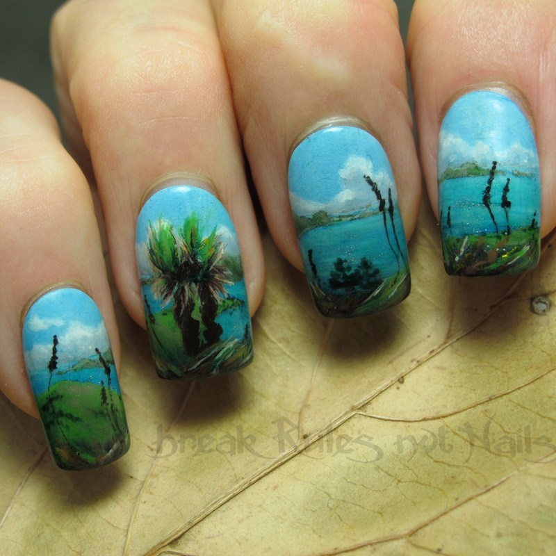 Lindeman Island nail art by Michelle