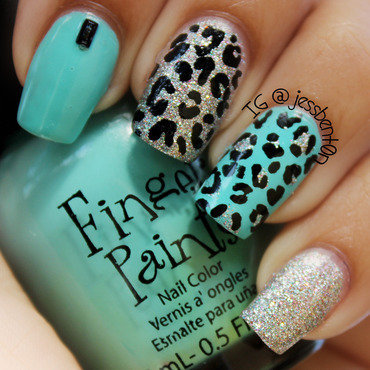 Tiffany Animal Print nail art by Jessica Benton