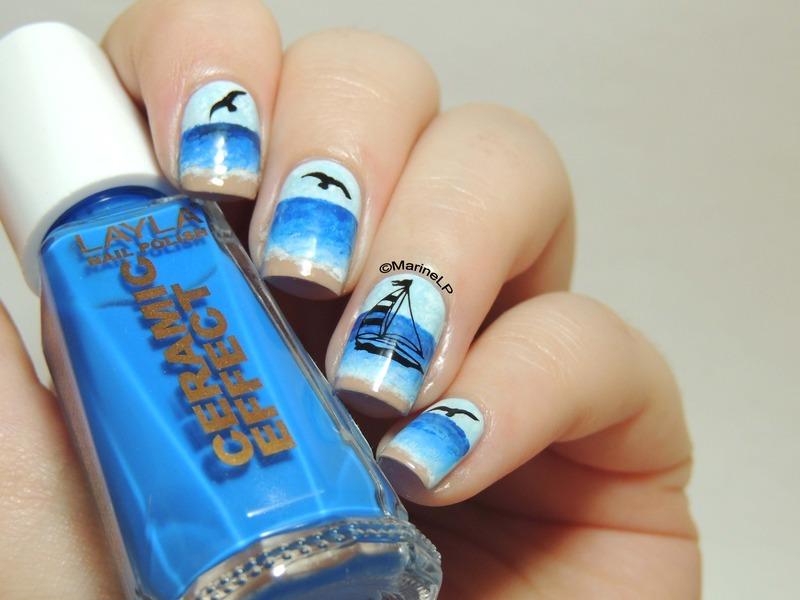 Let\'s go to the beach! nail art by Marine Loves Polish - Nailpolis ...