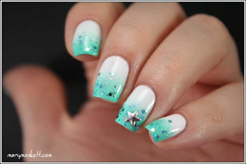 Welcome Summer nail art by Mary Monkett