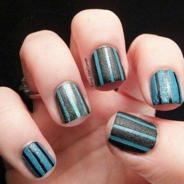 Textured stripes nail art by Emma B