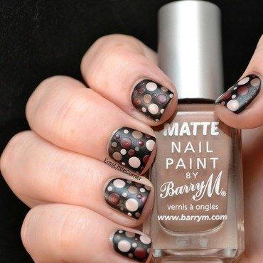 matte dots  nail art by Emma B