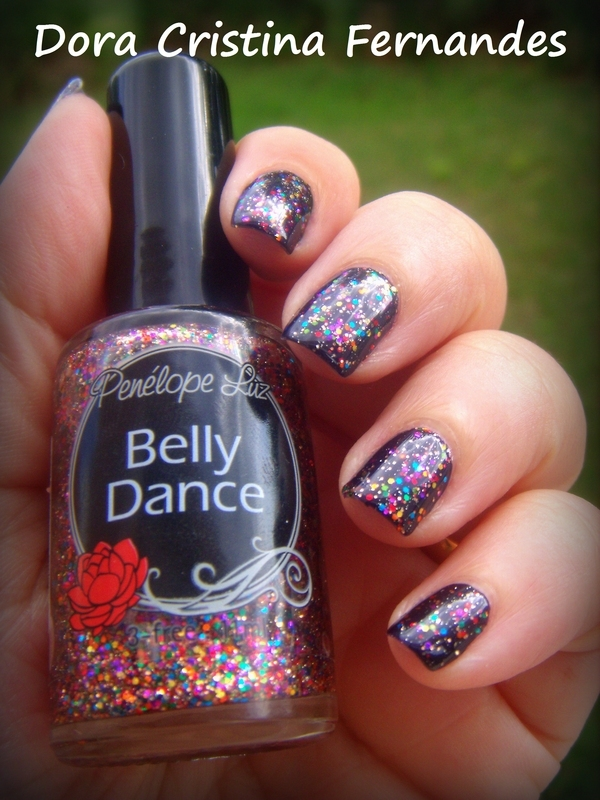 Belly Dance nail art by Dora Cristina Fernandes