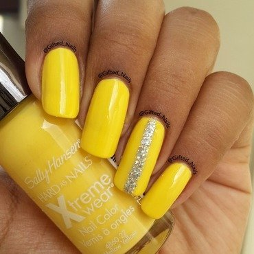 Sally Hansen Mellow Yellow Swatch by Gifted_nails