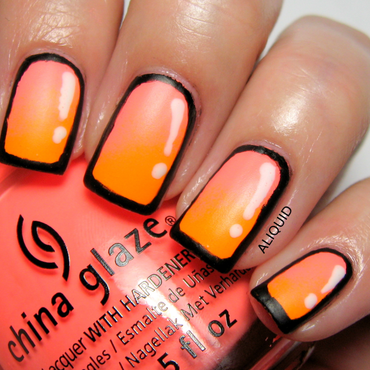 Gradient Cartoon Mani nail art by Alison Fisher