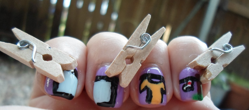 Laundry Day! nail art by Emma N.