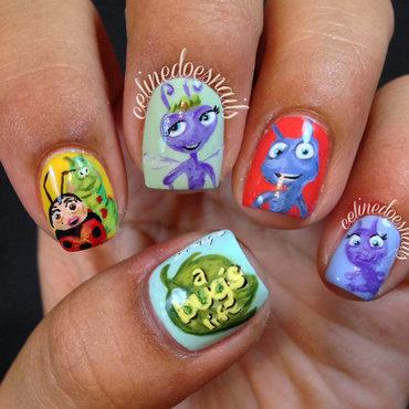 A Bug's Life Nail Art nail art by Celine Peña