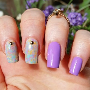 Lavender nail art by nailicious_1