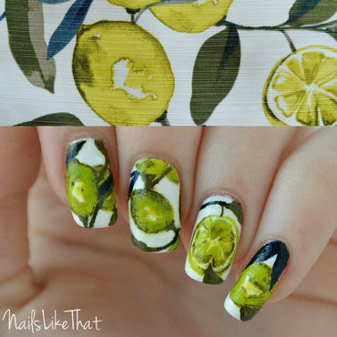 Lemon nails nail art by Nicole M