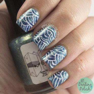 The Waves Won't Pull Us Down nail art by Marisa  Cavanaugh