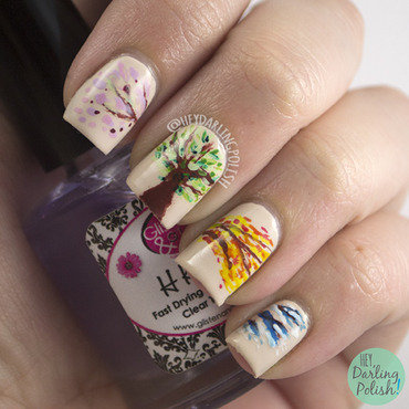 Fingerfood theme buffet seasons nail art 4 thumb370f
