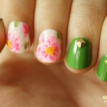 Peony Nail Art nail art by SunshineCitizen