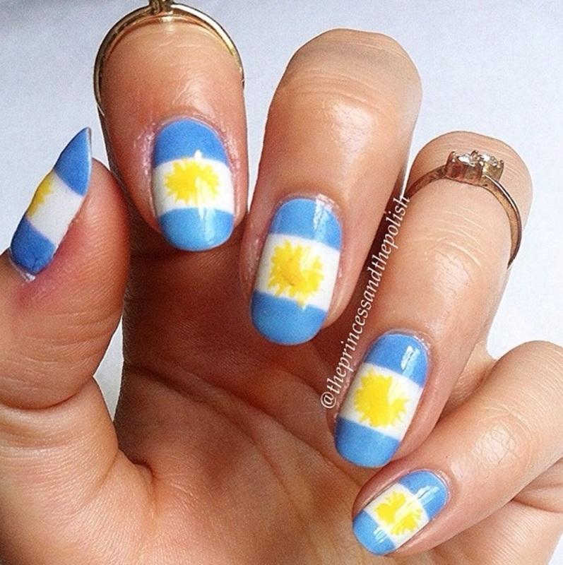 Argentina Nail Art nail art by Alexandra