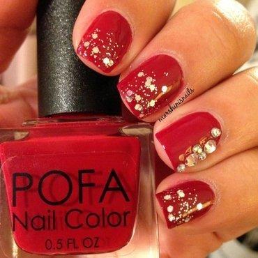 Red Carpet nail art by Marsha Morales