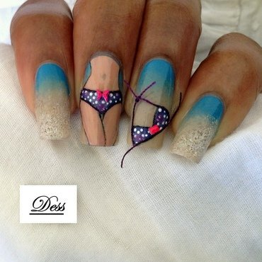 Hot sexy summer nail art by Dess_sure