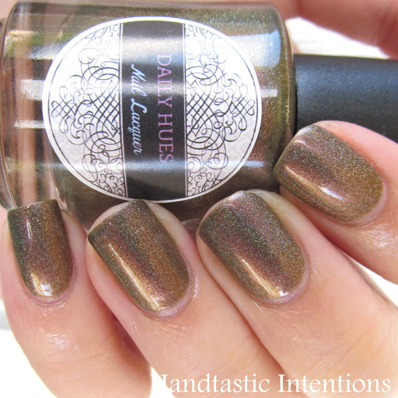 Daily Hues Nail Lacquer Blaze Swatch by Andrea