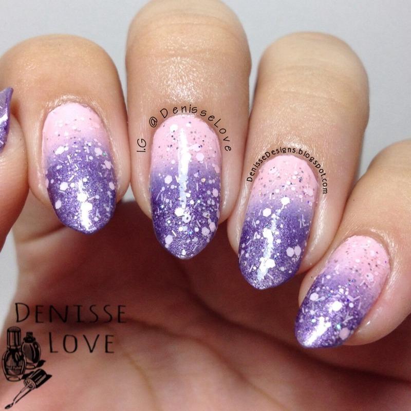 Soft Gradient nail art by Denisse Love