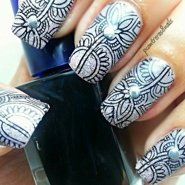 Ancient Etched Inspired Nails  nail art by pcontreras8nails
