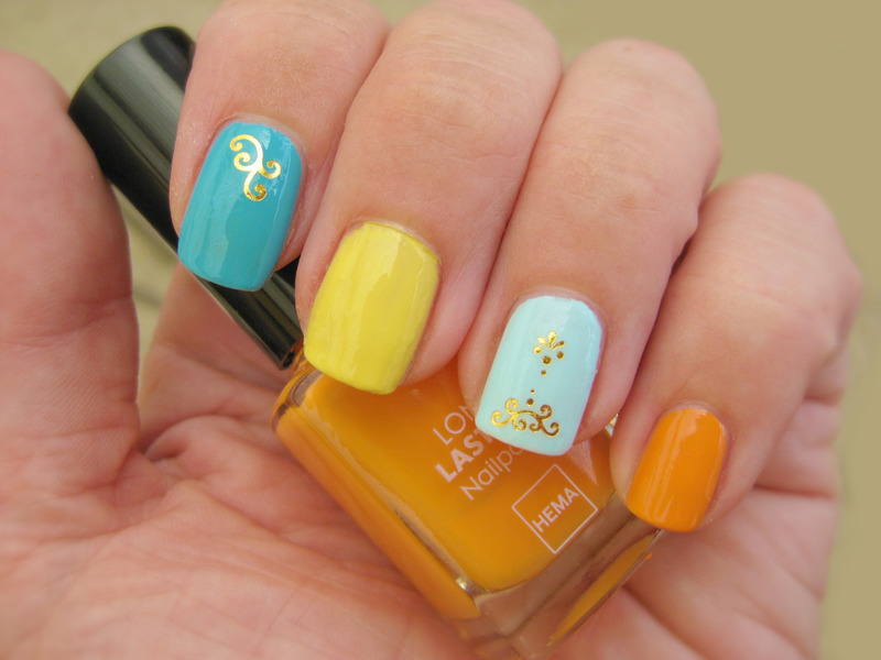 Fun with colors nail art by Vicky