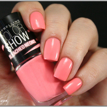 Maybelline Colorshow Coral Heat Swatch by Mary Monkett